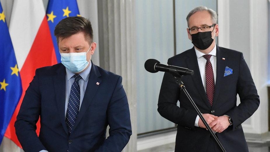 Michał Dworczyk i Adam Niedzielski