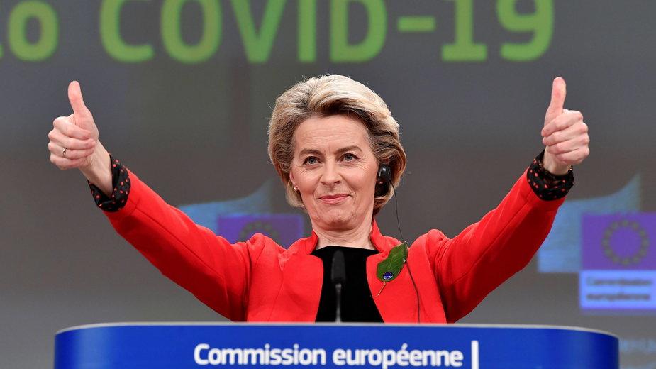 Ursula von der Leyen ogłasza porozumienie w sprawie paszportu szczepionkowego