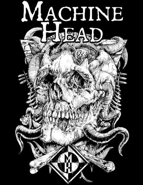 """Grafika Rafała """"Wechtera"""" Wechterowicza dla grupy Machine Head"""