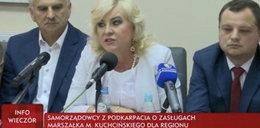 Konferencja poparcia dla Marka Kuchcińskiego. Niewygodni włodarze nie dostali zaproszeń
