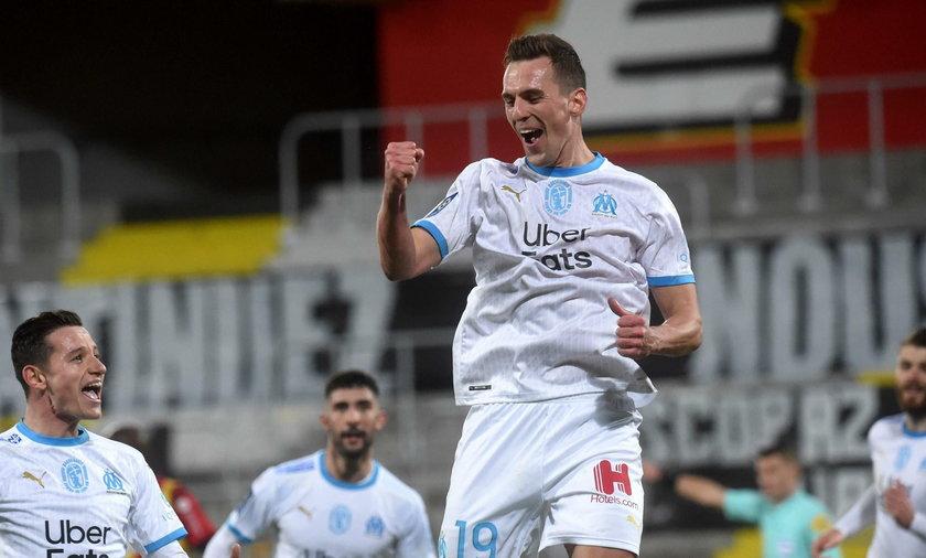 Arkadiusz Milik strzelił gola w meczu z Lyonem