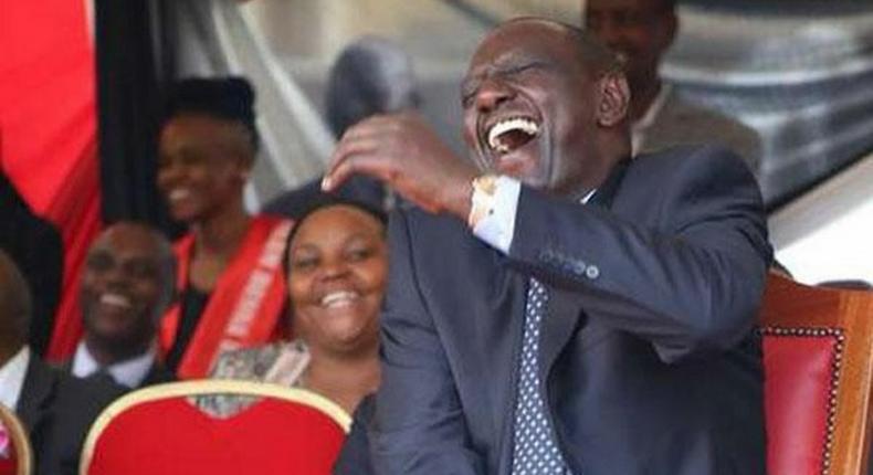 Deputy President William Ruto laughing