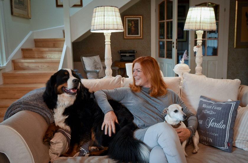 Katarzyna Dowbor z psami