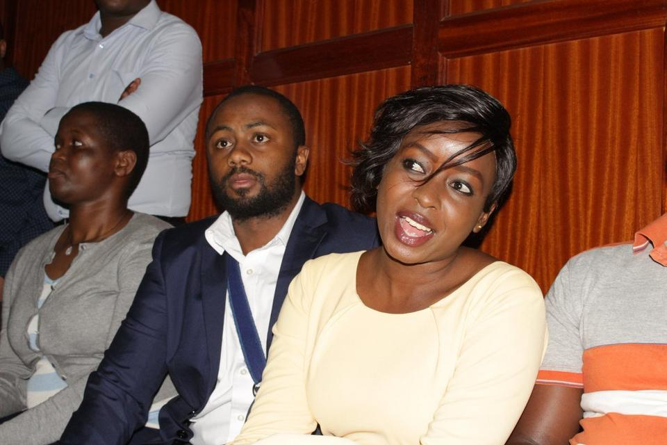 Jacque Maribe and Jowie Irungu during a past court appearance