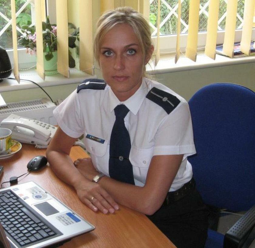 Anetta Potrykus - oficer prasowy Komendy Powiatowej Policji w Wejherowie