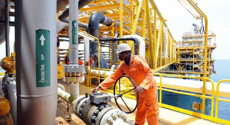 Total Nigeria worker at an oilfield