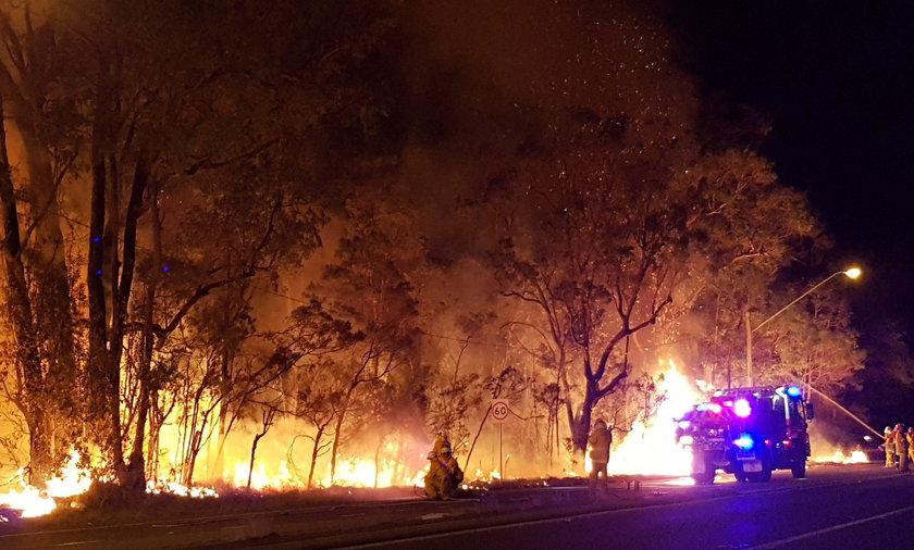 Pożar szaleje w Australii