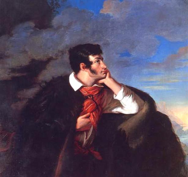 """Adam Mickiewicz, Walenty Wańkowicz, """"Portret Adama Mickiewicza na Judahu skale"""" (1827)"""