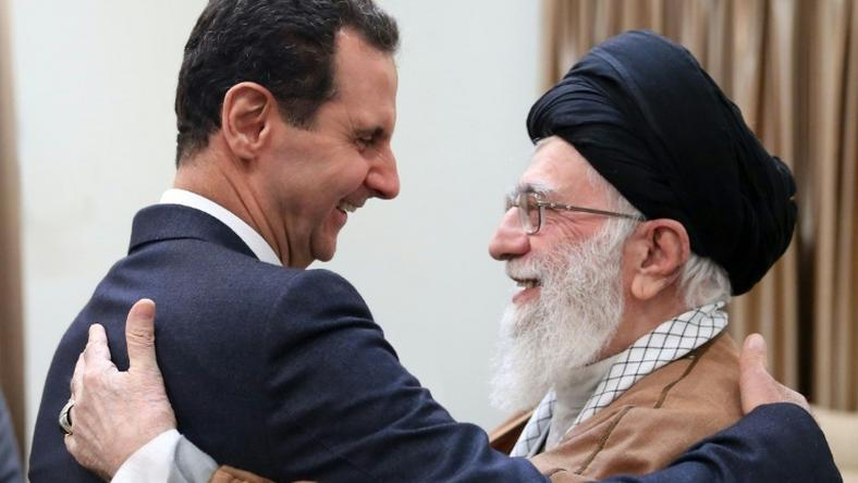 Syrian President Bashar al-Assad meets Iran's Supreme Leader Ayatollah Ali Khamenei on his first visit to Iran since the start of the war in his country