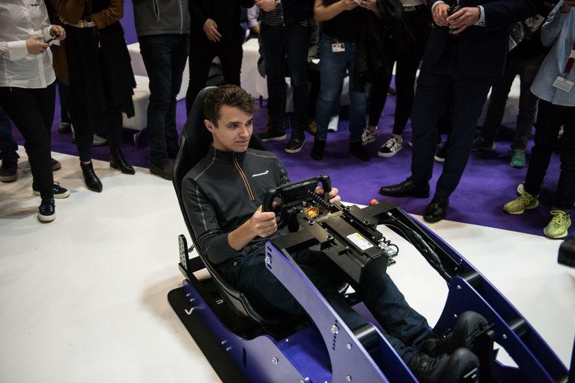 Lando Norris, kierowca F1, już trenuje w symulatorze