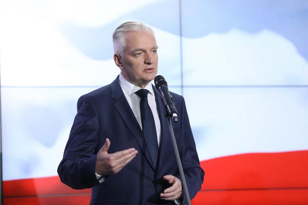 Wicepremier Gowin również przyznał, że uwagi jeszcze spływają do resortu.