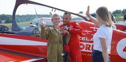 Nasze biegaczki wykonywały akrobacje lotnicze. Aniołki poszybowały wysoko