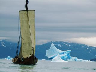 Greenland, viking ship