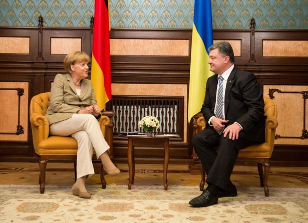 Spotkanie Petra Poroszenki i Angeli Merkel w Kijowie. Fot. EPA/BERND VON JUTRCZENK/PAP