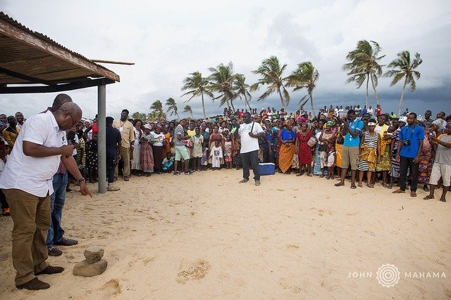 Mahama was in Jamestown and Chorkor as part of his Greater Accra tour