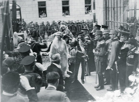 Na venčanju u Sabornoj crkvi, kum je bio sin engleskog kralja i potonji kralj Albert