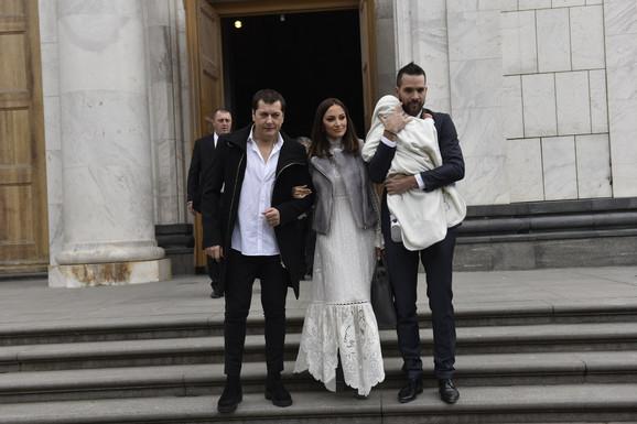 Aleksandra Prijović i Filip Živojinović - krštenje sina