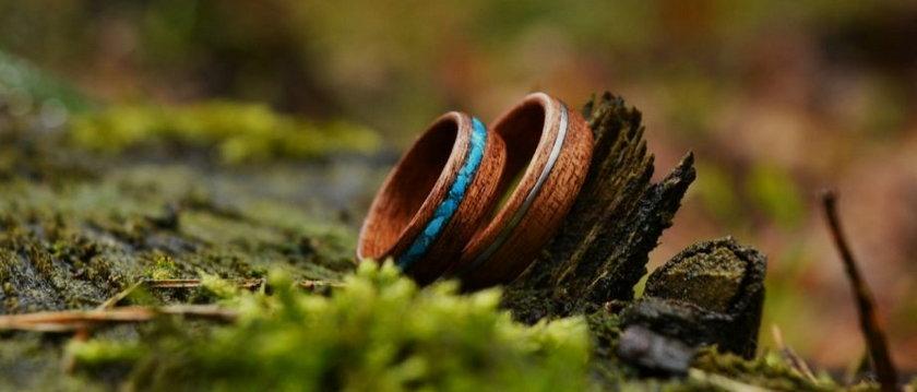 Drewniane obrączki