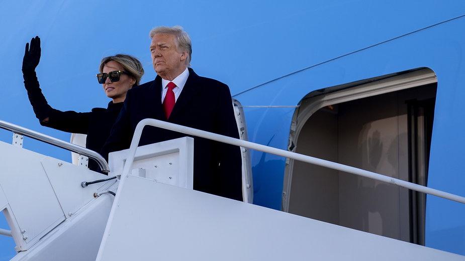 Donald Trump i jego małżonka Melania opuścili już Biały Dom