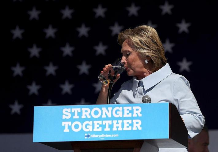 Hillary Clinton Campaigns On Labor Day In Ohio And Iowa