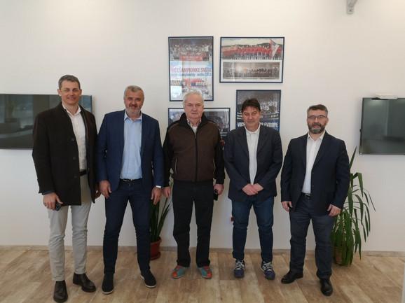 Čelni ljudi OKS-a i Rukometnog saveza Srbije