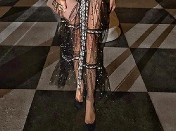 Donji veš OVE SRPKINJE sinoć je odmeravao ceo Pariz: Na Diorovom balu svi su gledali šta krije ispod POTPUNO PROVIDNE haljine