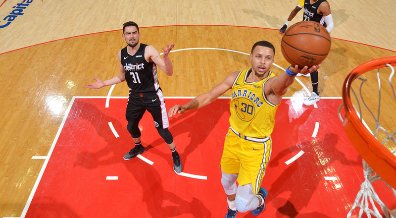 Golden State Warriors record 9th straight win against Washington Wizards
