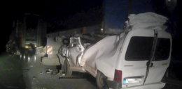 Dramatyczny wypadek w pobliżu Zielonej Góry. Kierowca walczy o życie