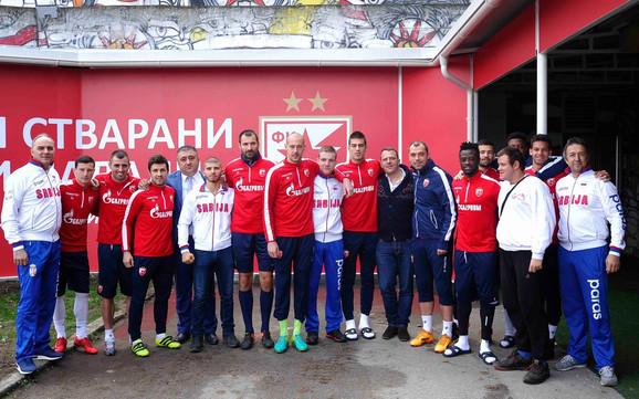 Paratekvondisti sa fudbalerima Crvene zvezde