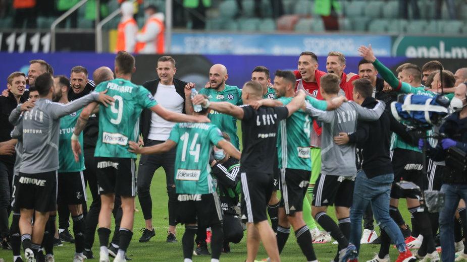 Feta drużyny Legii Warszawa