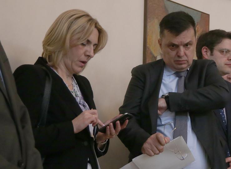 Zeljka Cvijanovic premijerka RS i Zoran Tegeltija ministar finansija RS
