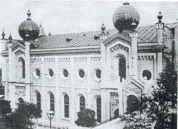 Synagoga w Cieszynie na pocz. XX w.