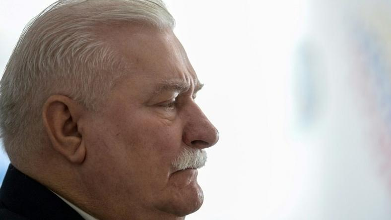 "Former Polish president and Nobel Peace laureate Lech Walesa, seen in 2016, said powerful right-wing politician Jaroslaw Kaczynski ""wants to eliminate everything that disturbs him -- the constitutional court, the courts, parliament"""