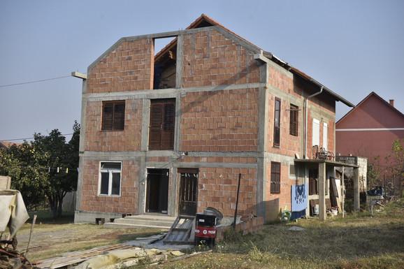 Kuća ranjene Gordane K. i njenog supruga