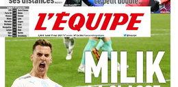 "Arkadiusz Milik to klasa europejska i ląduje na jedynce ""L'Equipe"""