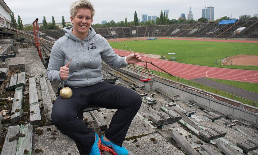 Anita Włodarczyk Skra Warszawa trening