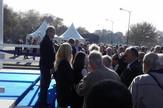 Slobodan Nakarada, direktor Muzeja Savremene umetnosti, ispred zgrade tačno u 10 časova
