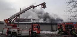 Pożar hali na Zbąszyńskiej