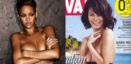 Rihanna jak Górniak. Topless