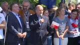 Schetyna na marszu KOD o czacie Kaczyńskiego
