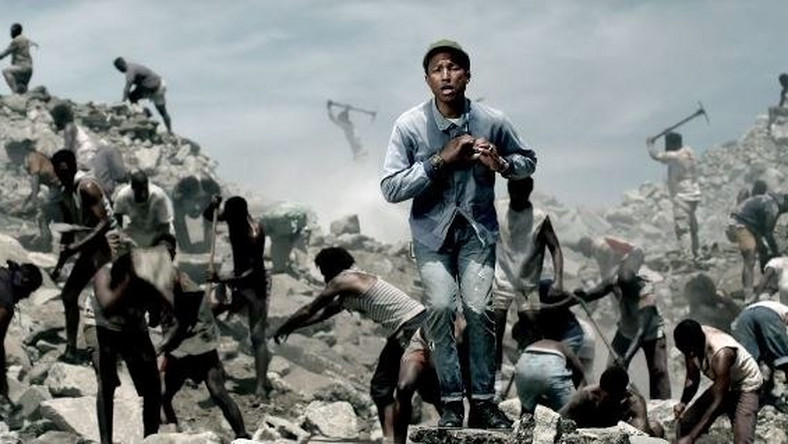 Pharell Williams in 'Freedom' video