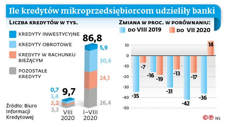 Ile kredytów mikroprzedsiębiorcom udzieliły banki