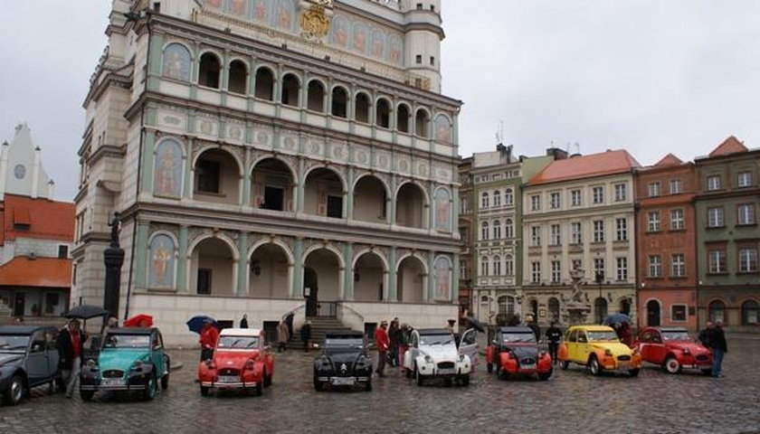 Klasyki francuskiej motoryzacji. Citroeny na Placu Wolności w Poznaniu