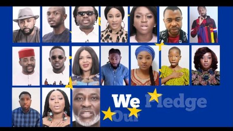 Nigerian celebrities join European Union to campaign against gender-based violence