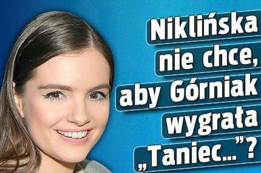 """Niklińska nie chce, aby Górniak wygrała """"Taniec...""""?"""