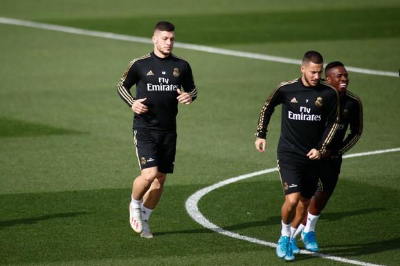 Luka Jović na treningu