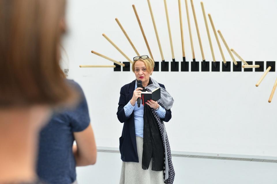Kuratorka wystawy Dorota Monkiewicz