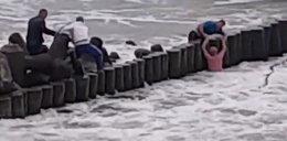Dramatyczna walka o życie przy falochronie. Przerażające nagranie