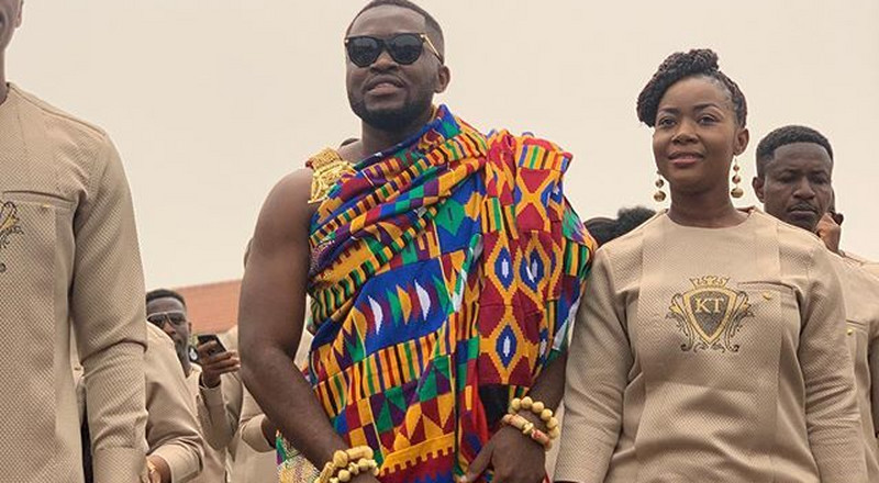 First photo of Osei Kwame Despite's son, Kennedy at his traditional wedding