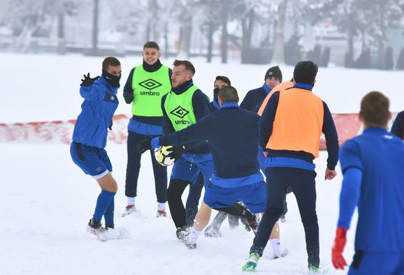 Fudbaleri Vojvodine na prvom treningu posle zimske pauze